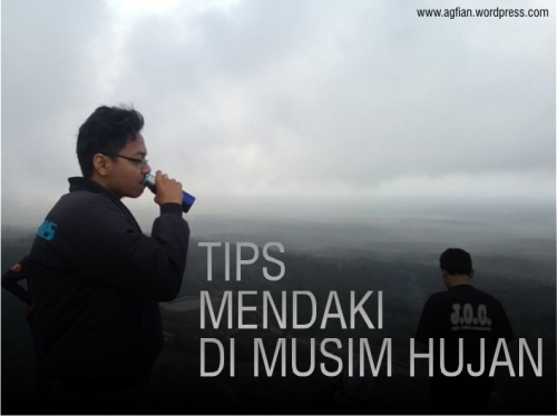 blog post tips mendaki di musim hujan