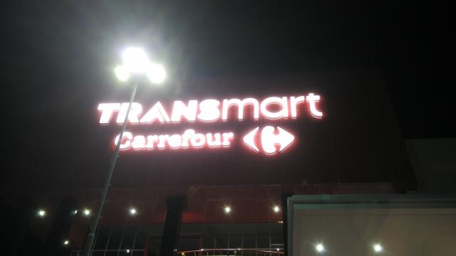 foto transmart balikpapan di malam hari